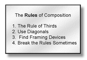 Tips For Taking Digital Photography Include Using These Four Basic Rules of Composition