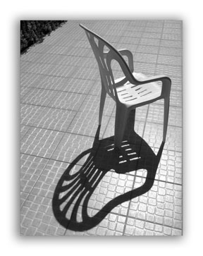 Shadow of a chair