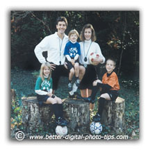 Soccer theme family portrait