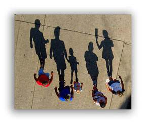 Shadow photos of people