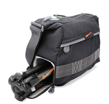 Vanguard VEO shoulder bag has built in compartment for your tripod