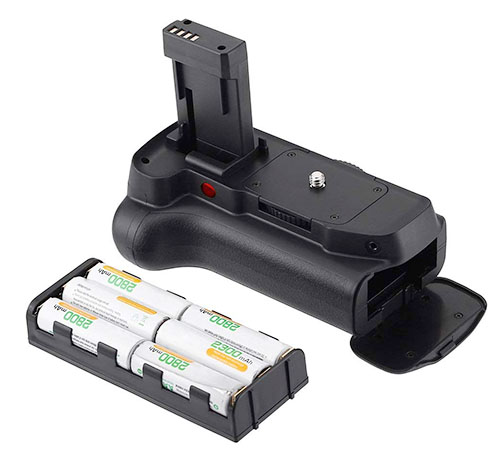 battery grip with AA batteries cartridge