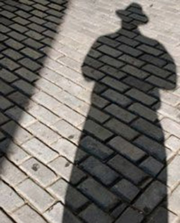 Shadow selfie project using bricks