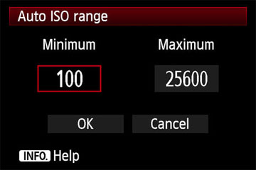 With sophisticated DSLR cameras, you can limit the ISO range.