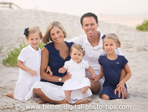 Beach family portrait for photography eBook