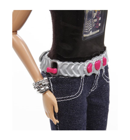 Pink Buttons on Barbie Doll Belt Contol the Camera