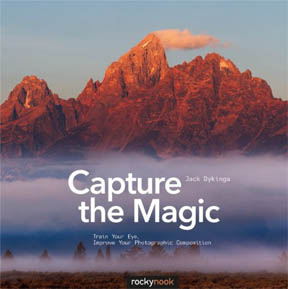 Cover photo of book on landscape photography