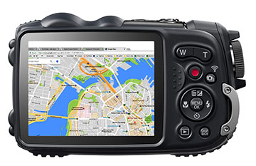 Map on camera LCD