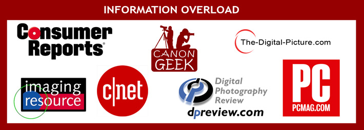 Overload of Digital Camera Review Sites