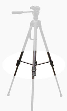 Tripod with leg spreaders