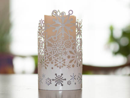 Candle with fill flash