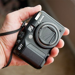 Canon G11 point and shoot camera
