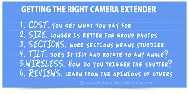 camera extender tips graphic