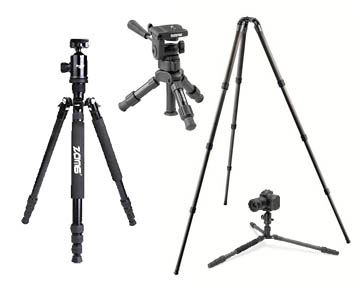Collection of budget tripods