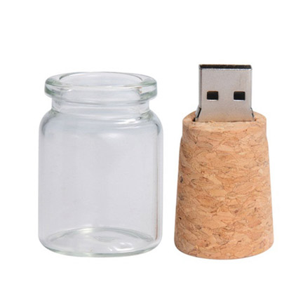 Cork and Bottle USB Flash Drive