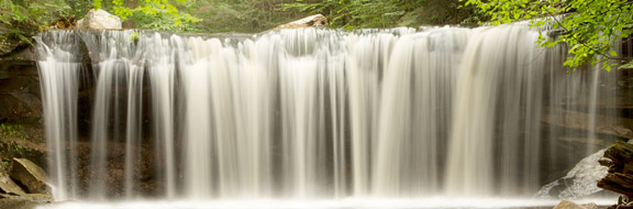 Picture of waterfall with creamy water
