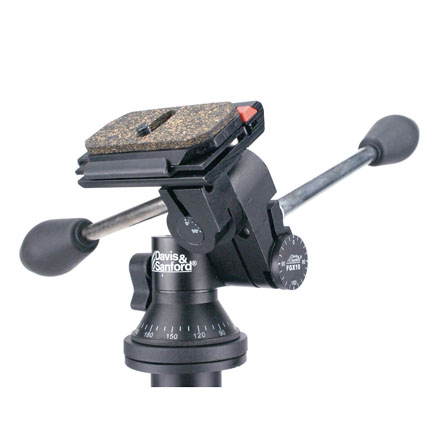 Tripod heads with separate locking knobs for tilt, swivel and rotate are sturdy but take more time to adjust.