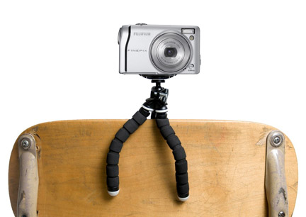 Example 2 of unique use for flexible leg tripod