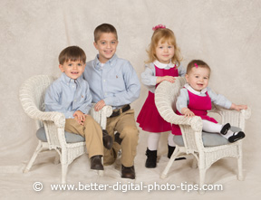Pose of four children for portrait eBook