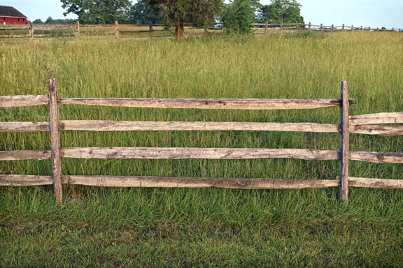 Gettysburg Battlefield - Grass and Fence
