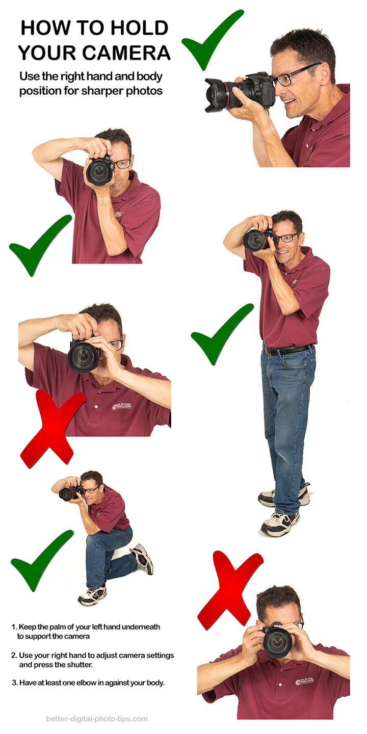How to hold camera infographic