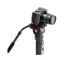 monopod head with long handle is great for creating many different video effects