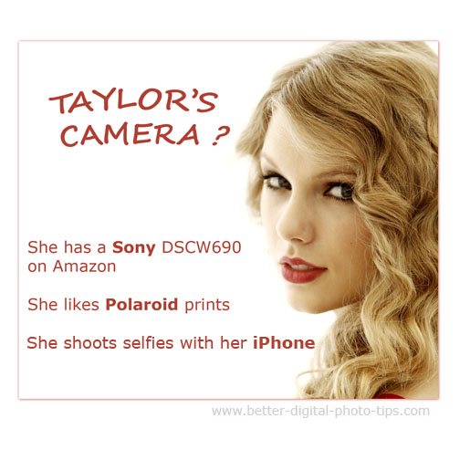 Taylor Swift's favorite camera