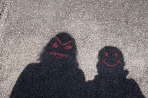 shadow photo of friends