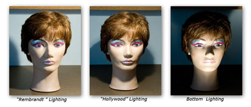 Example of a big contrast in lighting styles