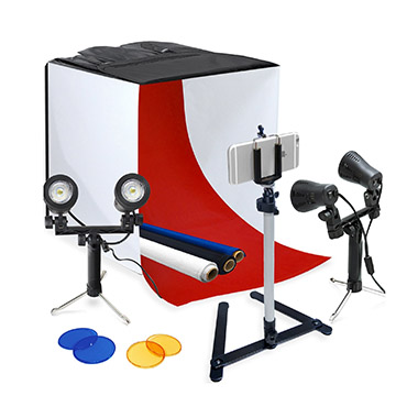 Macro lighting tent kit