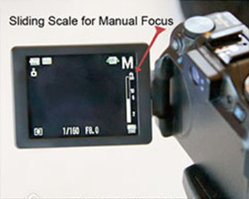 Manual focus point shoot camera
