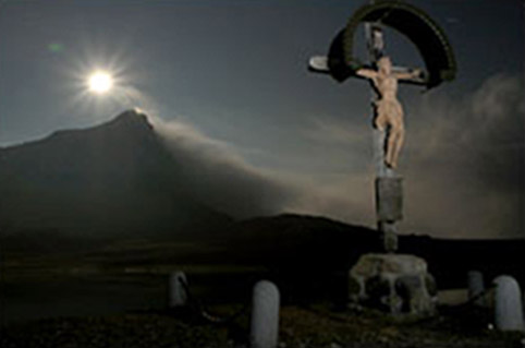 Moonlit crucifix