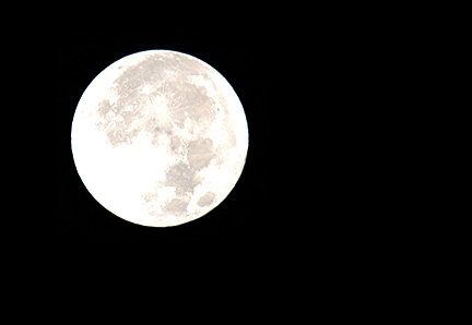 Overexposed moon photo