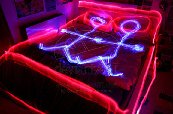 Painting With Light-Two People in Bed