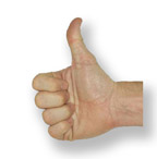 Photo of thumbs-up gesture