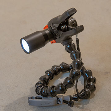 flashlight holder