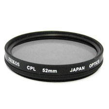 Polarizing filter for close-up photography