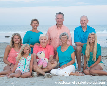 Professional beach family portrait