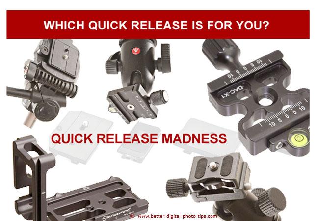 Quick Release Camera Tripod Attachment Options