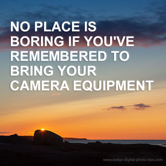 Photography quote camera equipment