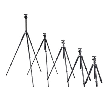 Tripods with different tallness factors - different heights