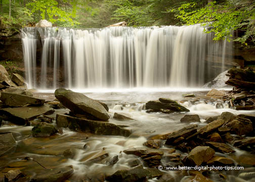 Opening photo of Waterfall Rickets Glen PA - for Nature Photography for Beginners Page