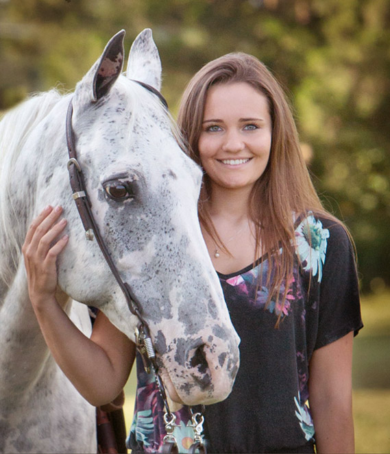 Senior portrait with horse