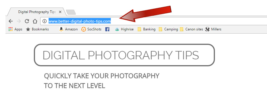 Share Better Digital Photo Tips Website URL