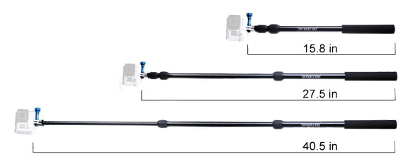 Length of the Smatree GoPro Monopod