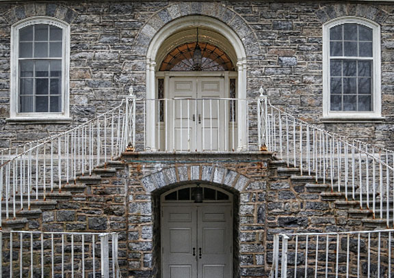 Stone Facade and Railings - Penn State