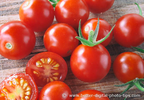 Summer Macro Photography of Cherry Tomatoes
