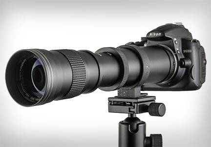 Long heavy lenses need a tripod for support and for sharp photos