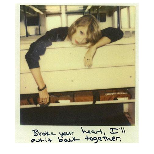 Taylor Swift Polaroid print