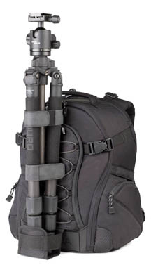 Topheavy backpack-tripod combination